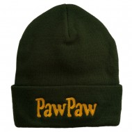 PawPaw Embroidered Long Cuff Beanie - Green