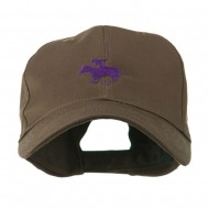 Polo Player Sports Embroidered Cap - Brown