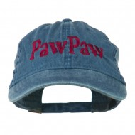 Wording of PawPaw Embroidered Washed Cap - Navy