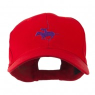 Polo Player Sports Embroidered Cap - Red