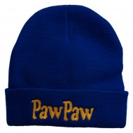 PawPaw Embroidered Long Cuff Beanie - Royal