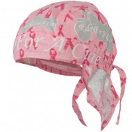 Pink Ribbon Headwrap - Ride for a Cure