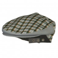 Men's Plaid Snap Button Ivy Cap - Grey