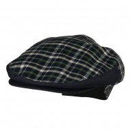 Men's Plaid Snap Button Ivy Cap - Navy