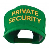 Private Security Embroidered Cap - Kelly Green