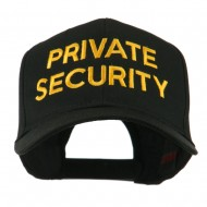 Private Security Embroidered Cap - Black