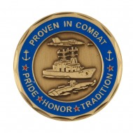 Proud To Be U.S. Navy Coin - Blue Combat