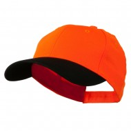 Poly Twill Neon Cap - Orange Black