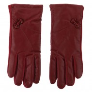 Women's Pleather Wool Texting Glove - Red