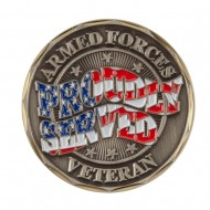 Proud To Be U.S. Navy Coin - Bronze Veteran