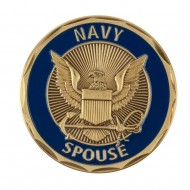 Proud To Be U.S. Navy Coin - Blue Navy Spouse