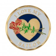 Proud To Be U.S. Navy Coin - Blue Sailor With Rose
