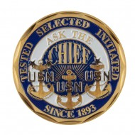 Proud To Be U.S. Navy Coin - Blue Navy Pride