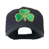 Clover St.Patrick's Day Embroidered Cap - Navy