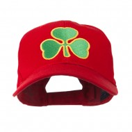 Clover St.Patrick's Day Embroidered Cap - Red