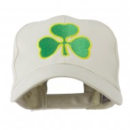 Clover St.Patrick's Day Embroidered Cap - Stone