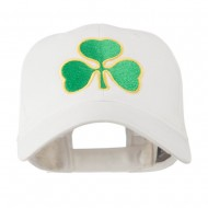 Clover St.Patrick's Day Embroidered Cap - White