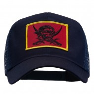 Skull Choppers Pirate Patched Mesh Cap - Navy