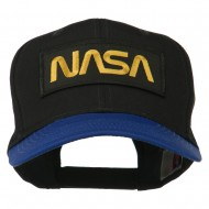 NASA Patched Two Tone Cotton Twill Cap - Royal Black