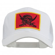 Skull Choppers Pirate Patched Mesh Cap - White