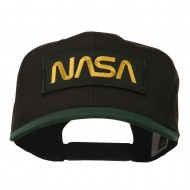NASA Patched Two Tone Cotton Twill Cap - Green Black