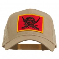 Skull Choppers Pirate Patched Mesh Cap - Khaki