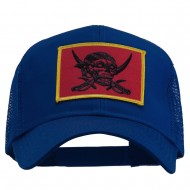 Skull Choppers Pirate Patched Mesh Cap - Royal
