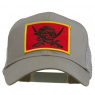 Skull Choppers Pirate Patched Mesh Cap - Grey