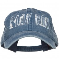 Playboy Embroidered Washed Buckle Cap - Navy