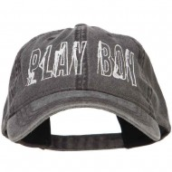Playboy Embroidered Washed Buckle Cap - Black