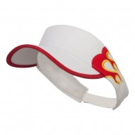 Pro Style Flame Visor - White Red