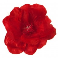 Q Flower Pin - Red