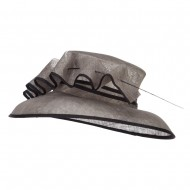 Quil Trimming Fashion Sinamay Hat - Taupe