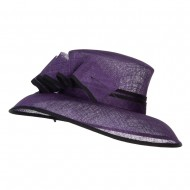 Quil Trimming Fashion Sinamay Hat - Purple