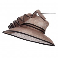 Quil Trimming Fashion Sinamay Hat - Olive