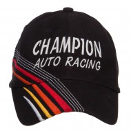 Champion Auto Racing Embroidered Deluxe Cap - White