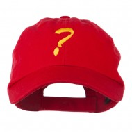 Question Mark Embroidered Cap - Red