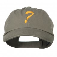 Question Mark Embroidered Cap - Olive