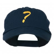 Question Mark Embroidered Cap - Navy