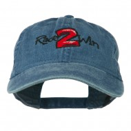 Race 2 Win Embroidered Washed Cap - Navy