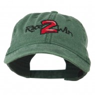 Race 2 Win Embroidered Washed Cap - Dark Green