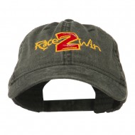 Race 2 Win Embroidered Washed Cap - Black