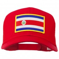 Costa Rica Patched Mesh Cap - Red