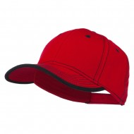 Superior Cotton Twill Structured Twill Cap - Red Black