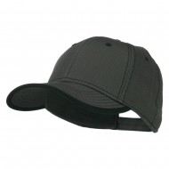 Superior Cotton Twill Structured Twill Cap - Charcoal Black