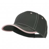 Superior Cotton Twill Structured Twill Cap - Charcoal Pink