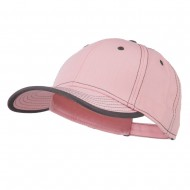 Superior Cotton Twill Structured Twill Cap - Pink Charcoal