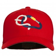 Rock Climbing Hitch Embroidered Flexfit Mesh Cap - Red