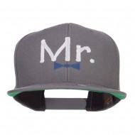 Mr Embroidered Snapback Cap - Dk Grey