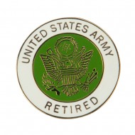 US Retired Cloisonne Military Pins - Army